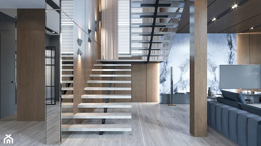 DOM / MSZCZONÓW - Średni beżowy hol / przedpokój, styl nowoczesny - zdjęcie od ZEN Interiors