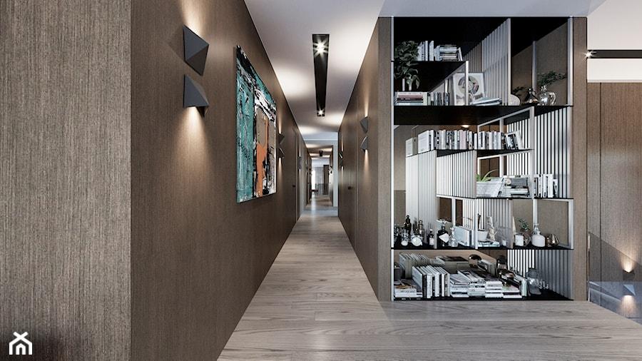 DOM / MSZCZONÓW - Duży beżowy brązowy hol / przedpokój, styl nowoczesny - zdjęcie od ZEN Interiors