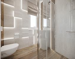 DOM / RADZYMIN - Mała łazienka w bloku w domu jednorodzinnym z oknem, styl nowoczesny - zdjęcie od ZEN Interiors
