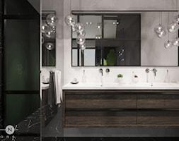 APARTAMENT / PRZEMYŚL - Średnia biała łazienka w bloku w domu jednorodzinnym bez okna, styl glamour - zdjęcie od ZEN Interiors
