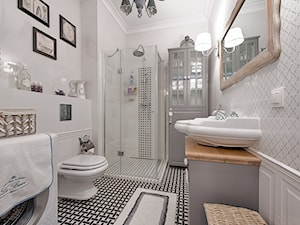Francuski zakątek ;) - Średnia biała łazienka w bloku w domu jednorodzinnym bez okna, styl prowansalski - zdjęcie od DreamHouse