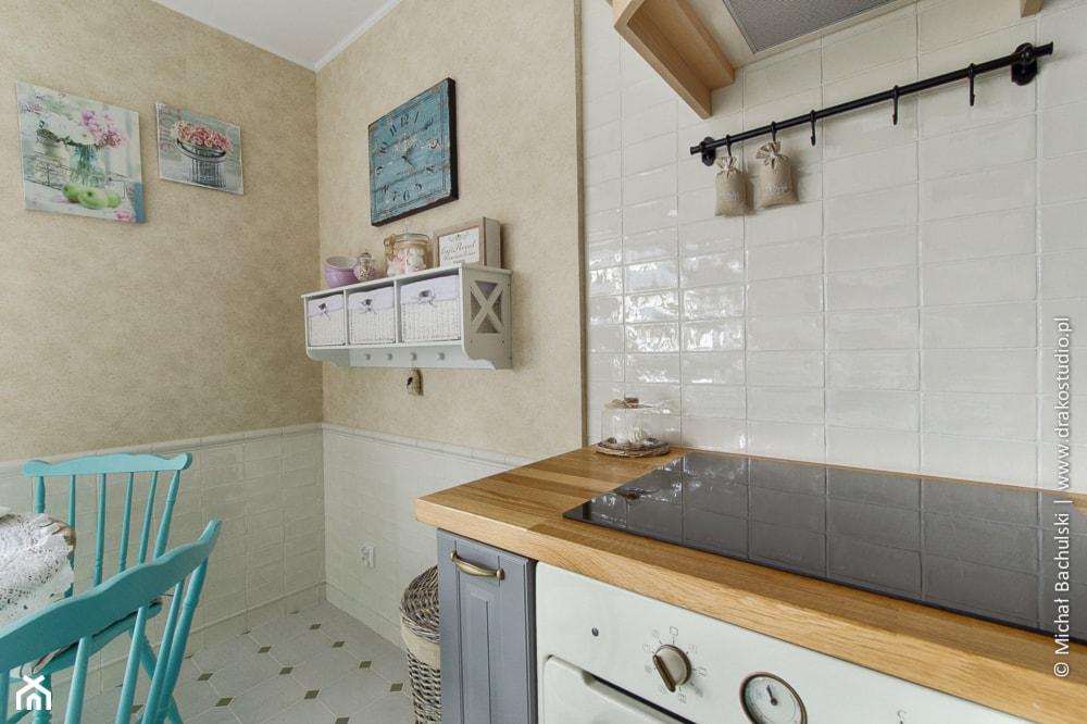 Ludwik w Skandynawii ;) - Średnia zamknięta biała szara kuchnia jednorzędowa, styl prowansalski - zdjęcie od DreamHouse - Homebook