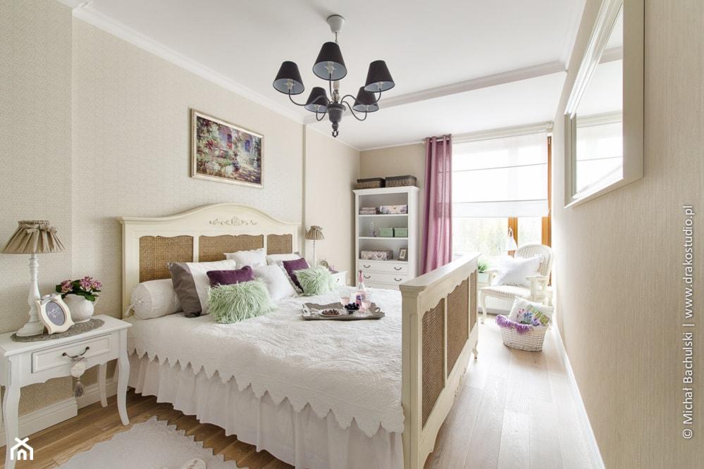 Ludwik w Skandynawii ;) - Średnia beżowa sypialnia małżeńska, styl prowansalski - zdjęcie od DreamHouse - Homebook