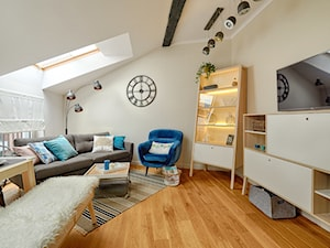 Skandynawia naszymi oczami - Średni biały beżowy salon z jadalnią, styl skandynawski - zdjęcie od DreamHouse