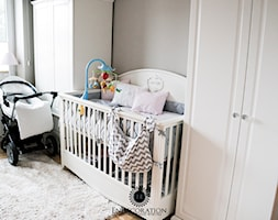 Pokoik Vanesski - Średni szary pokój dziecka dla chłopca dla dziewczynki dla niemowlaka, styl klasyczny - zdjęcie od EnDecoration