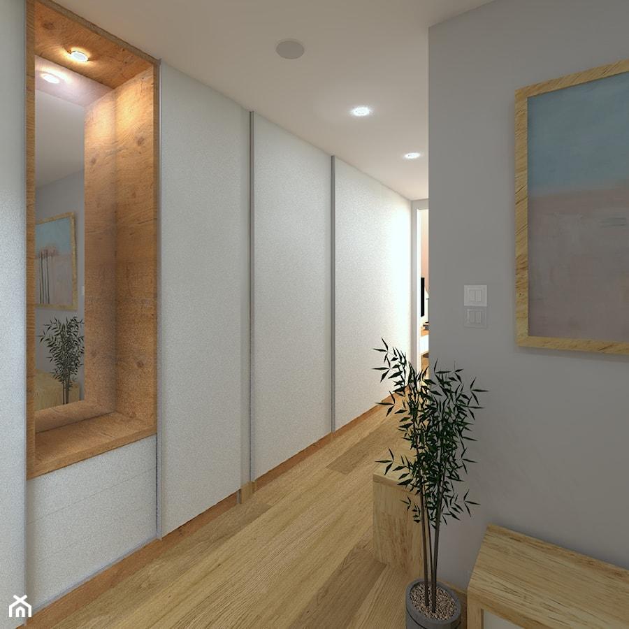 Aranżacje wnętrz - Garderoba: Dwupoziomowy apartament w Gdyni - Średnia otwarta garderoba, styl minimalistyczny - CHATANOWA. Przeglądaj, dodawaj i zapisuj najlepsze zdjęcia, pomysły i inspiracje designerskie. W bazie mamy już prawie milion fotografii!