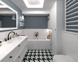 Mała łazienka z mnóstwem miejsca do przechowywania - zdjęcie od CHATANOWA