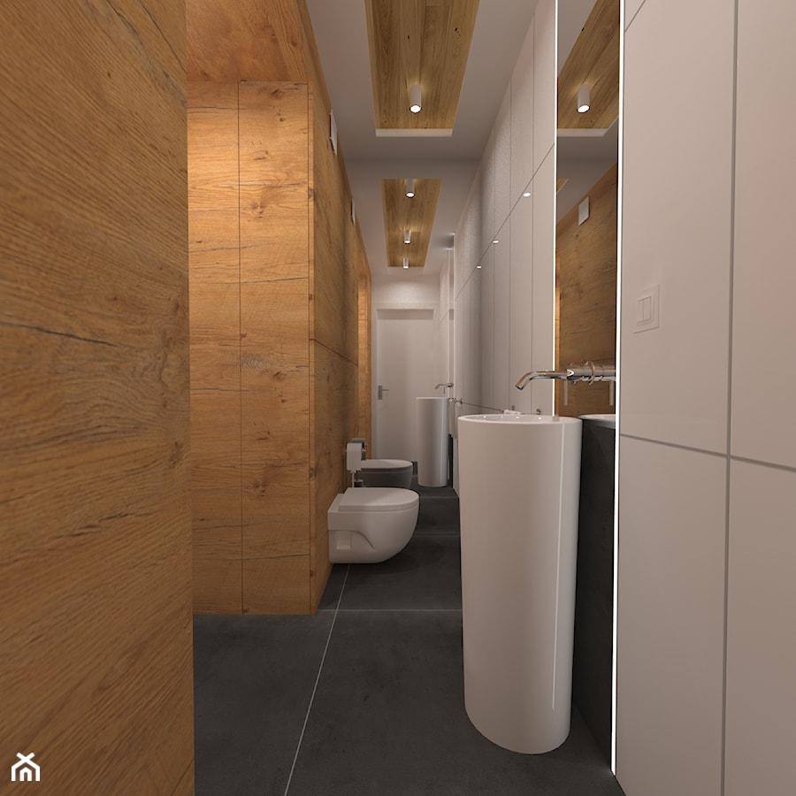 Aranżacje wnętrz - Łazienka: Dwupoziomowy apartament w Gdyni - Średnia biała łazienka w bloku w domu jednorodzinnym bez okna - CHATANOWA. Przeglądaj, dodawaj i zapisuj najlepsze zdjęcia, pomysły i inspiracje designerskie. W bazie mamy już prawie milion fotografii!