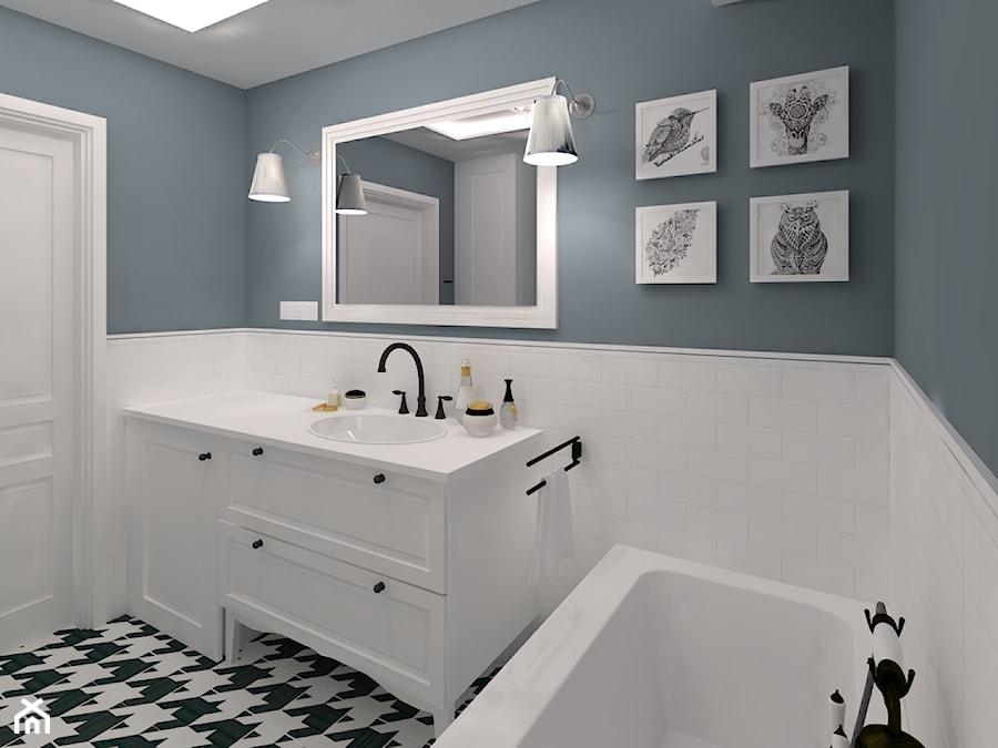 Mała łazienka W Bieli I Indygo Zdjęcie Od Chatanowa Homebook