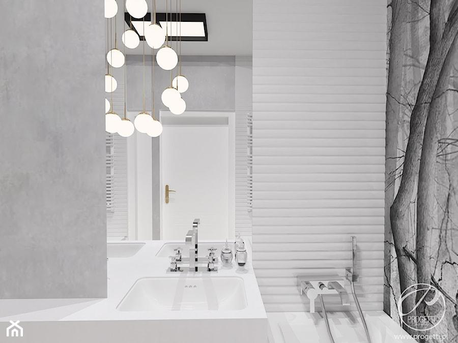 Artystyczny Żoliborz w stylu nowojorskim - Mała łazienka w bloku w domu jednorodzinnym bez okna, styl nowojorski - zdjęcie od Progetti Architektura