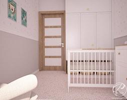 Apartamenty Marymont - Mały biały szary pokój dziecka dla chłopca dla dziewczynki dla niemowlaka, styl nowoczesny - zdjęcie od Progetti Architektura