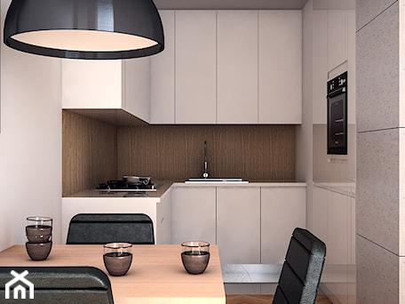 Mieszkanie na Pradze - Mała otwarta biała kuchnia w kształcie litery u w aneksie, styl nowoczesny - zdjęcie od Progetti Architektura