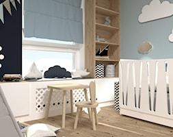 Apartament przy Jana Kazimierza - Mały szary pokój dziecka dla chłopca dla dziewczynki dla ucznia dla niemowlaka, styl nowoczesny - zdjęcie od Progetti Architektura