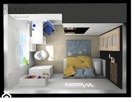 Aranżacje wnętrz - Pokój dziecka: Pokój młodzieżowy z neonem - BAMARI Studio Architektury Wnętrz. Przeglądaj, dodawaj i zapisuj najlepsze zdjęcia, pomysły i inspiracje designerskie. W bazie mamy już prawie milion fotografii!