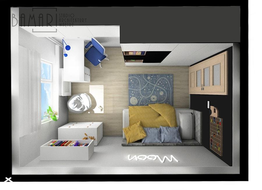 Pokój młodzieżowy z neonem - zdjęcie od BAMARI Studio Architektury Wnętrz
