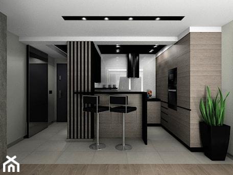 Aranżacje wnętrz - Kuchnia: Kuchnia z okapem wyspowym - BAMARI Studio Architektury Wnętrz. Przeglądaj, dodawaj i zapisuj najlepsze zdjęcia, pomysły i inspiracje designerskie. W bazie mamy już prawie milion fotografii!