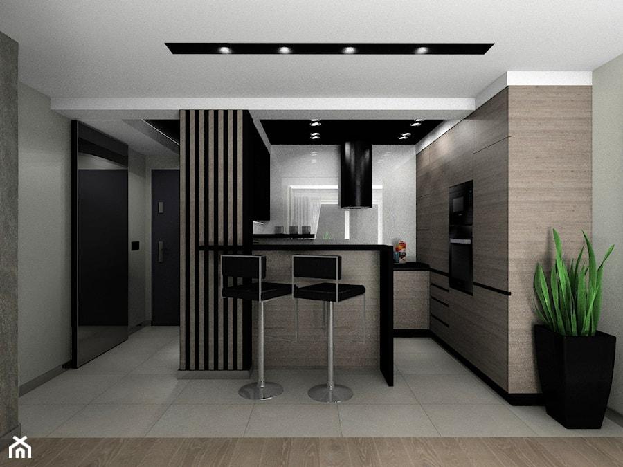 Kuchnia z okapem wyspowym - zdjęcie od BAMARI Studio Architektury Wnętrz