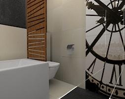 łazienka z ukrytym schowkiem - Łazienka, styl nowoczesny - zdjęcie od BAMARI Studio Architektury Wnętrz - Homebook