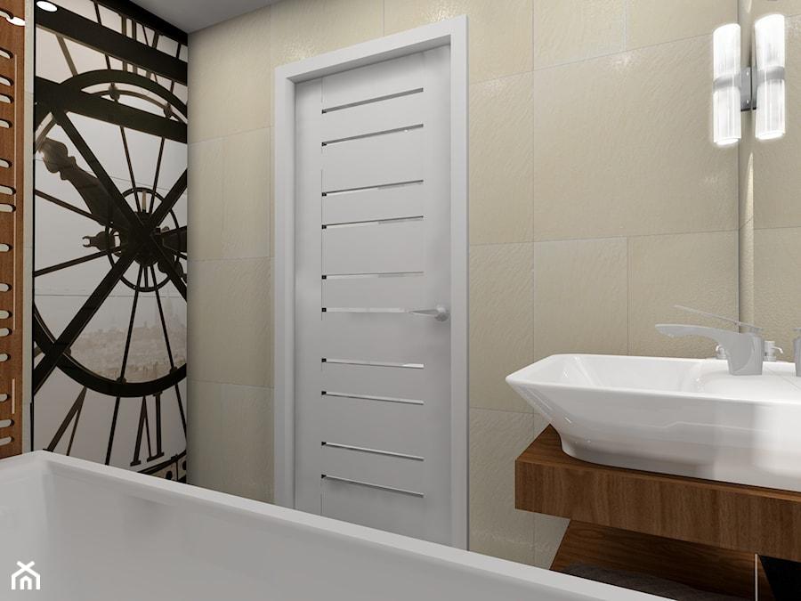 łazienka z ukrytym schowkiem - Łazienka, styl nowoczesny - zdjęcie od BAMARI Studio Architektury Wnętrz