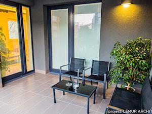 Apartament KIWI - Średni taras, styl nowoczesny - zdjęcie od Pracownia architektoniczna meridian