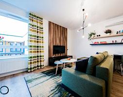 KONKURS Wnętrza Roku 2017 - Cardamon - Średni biały salon, styl nowoczesny - zdjęcie od Pracownia architektoniczna meridian