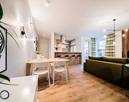 KONKURS Wnętrza Roku 2017 - Cardamon - Duża otwarta szara jadalnia w salonie, styl nowoczesny - zdjęcie od Pracownia architektoniczna meridian
