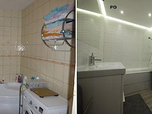 Łazienka na biało. - zdjęcie od Interio-Desi Pracownia Projektowa