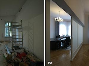 recepcja przed i po remoncie - zdjęcie od Interio-Desi Pracownia Projektowa