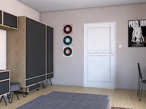 Pokój nastolatka - Średni beżowy pokój dziecka dla chłopca dla ucznia dla nastolatka, styl industrialny - zdjęcie od ROARHIDE Industrial Designs