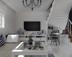 Elegancki Haber_Pyskowice - Średni biały salon - zdjęcie od INFORMA Pracownia Architektury Wnętrz