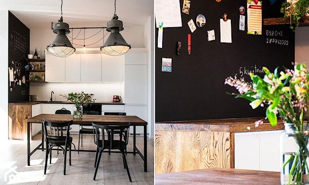 tablica na ścianie w kuchni