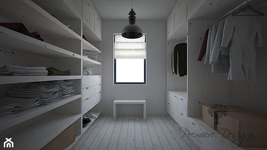 Dom letni - Średnia zamknięta garderoba z oknem przy sypialni, styl rustykalny - zdjęcie od Premiere Design