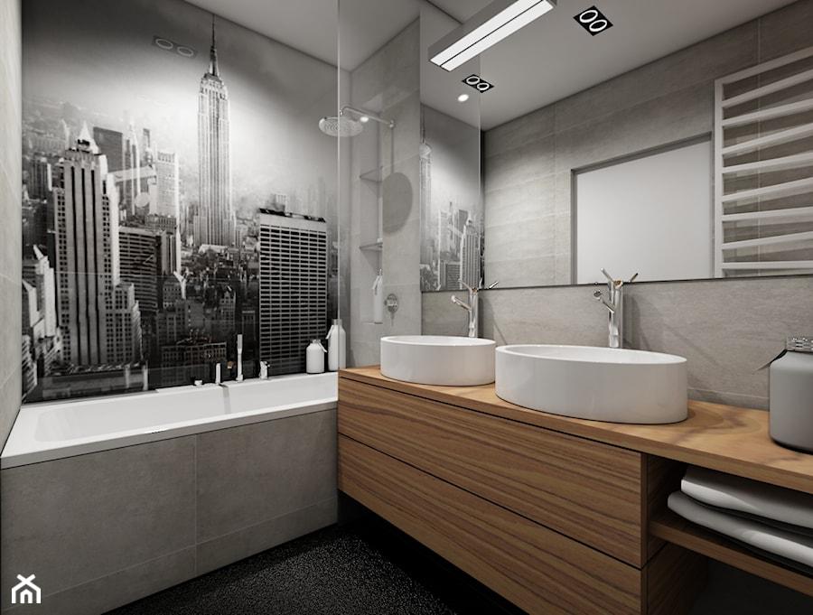 Industrialny gocław - Średnia czarna szara łazienka, styl nowoczesny - zdjęcie od Premiere Design