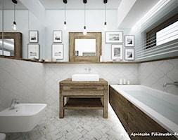 dom w stolicy - Średnia biała łazienka z oknem, styl rustykalny - zdjęcie od Agnieszka PeZet