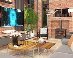 Nowoczesny salon w industrialnym otoczeniu - zdjęcie od Cubic concept