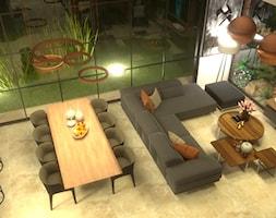 salon nowoczesny w industrialnym otoczeniu - zdjęcie od Cubic concept