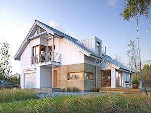 DOSKONAŁY 1 - kompaktowy dom z dwuspadowym dachem