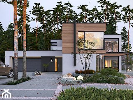 Aranżacje wnętrz - Domy: OTWARTY 1 - piętrowy dom z płaskim dachem - Domy, styl nowoczesny - DOMY Z WIZJĄ - nowoczesne projekty domów. Przeglądaj, dodawaj i zapisuj najlepsze zdjęcia, pomysły i inspiracje designerskie. W bazie mamy już prawie milion fotografii!