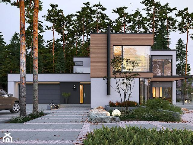 OTWARTY 1 - piętrowy dom z płaskim dachem