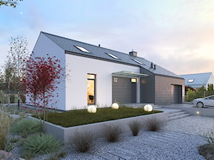 CIEKAWY 1 - kompaktowy dom z antresolą i nowoczesną elewacją