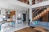 piękny salon w stylu minimalistycznym