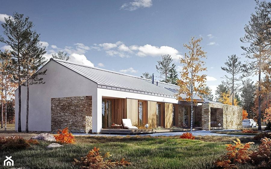 Rodzinny 1 Dom Parterowy Z Dachem Dwuspadowym Projekt Domu Domy Z