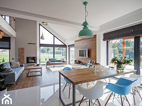 Aranżacje wnętrz - Jadalnia: DOSKONAŁY 3 - realizacja projektu - Średnia otwarta biała jadalnia w kuchni, styl skandynawski - DOMY Z WIZJĄ - nowoczesne projekty domów. Przeglądaj, dodawaj i zapisuj najlepsze zdjęcia, pomysły i inspiracje designerskie. W bazie mamy już prawie milion fotografii!