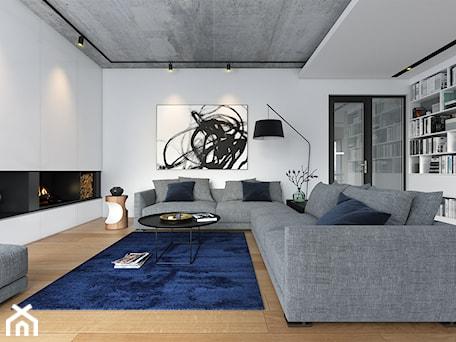 Aranżacje wnętrz - Salon: OTWARTY 1 - piętrowy dom z płaskim dachem - Salon, styl minimalistyczny - DOMY Z WIZJĄ - nowoczesne projekty domów. Przeglądaj, dodawaj i zapisuj najlepsze zdjęcia, pomysły i inspiracje designerskie. W bazie mamy już prawie milion fotografii!