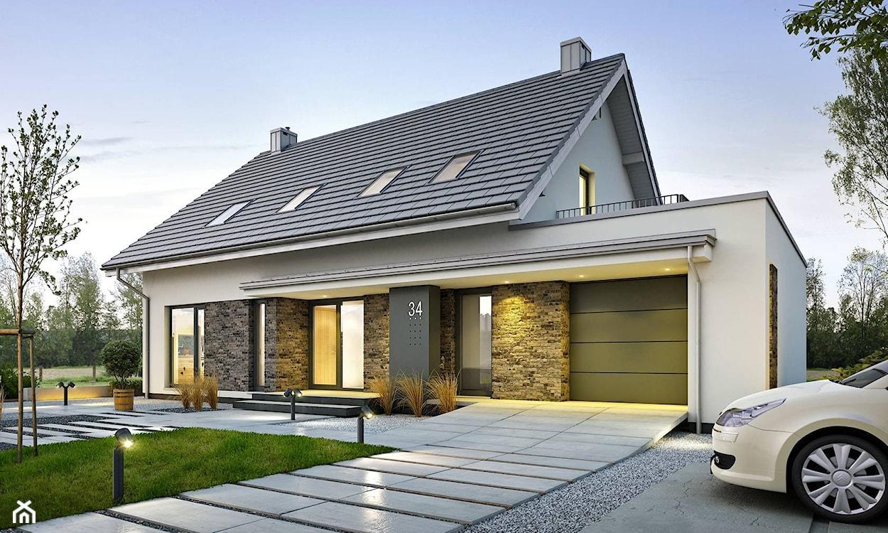 dom z elewacją z kamienia