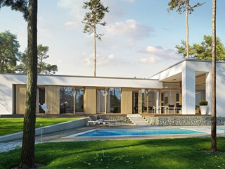PARTEROWY 1 - nowoczesny dom parterowy z płaskim dachem