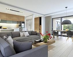 Salon styl Skandynawski - zdjęcie od DOMY Z WIZJĄ - nowoczesne projekty domów
