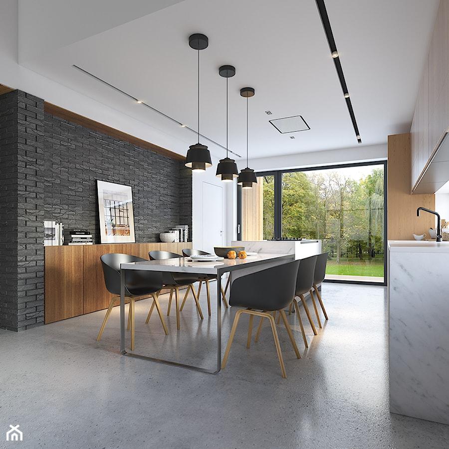Uniwersalny 1 - tradycyjna forma, współczesne materiały - Jadalnia, styl nowoczesny - zdjęcie od DOMY Z WIZJĄ - nowoczesne projekty domów