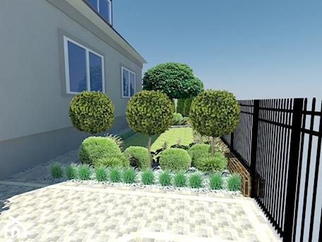 Aranżacje wnętrz - Ogród: Elegancki ogród przed domem - Ogród, styl klasyczny - Duo Design. Przeglądaj, dodawaj i zapisuj najlepsze zdjęcia, pomysły i inspiracje designerskie. W bazie mamy już prawie milion fotografii!