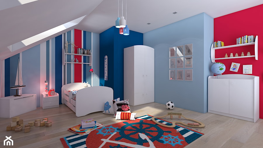 marynistyczny pok j dla ch opca dla firmy gappag zdj cie od intus design homebook. Black Bedroom Furniture Sets. Home Design Ideas
